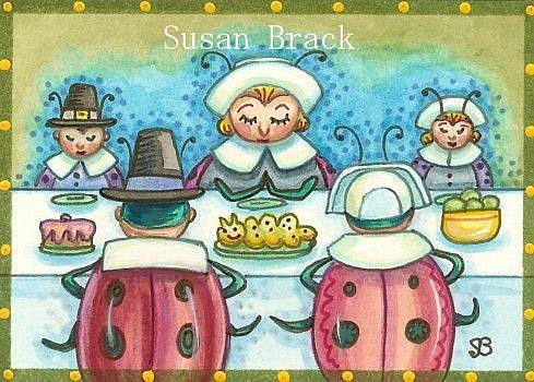 Art: FIRST LADYBUG THANKSGIVING by Artist Susan Brack