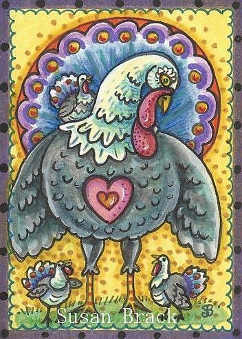 Art: HAPPY TURKEY DAY! by Artist Susan Brack