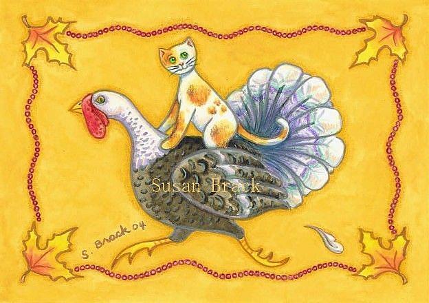Art: TURKEY RUN by Artist Susan Brack
