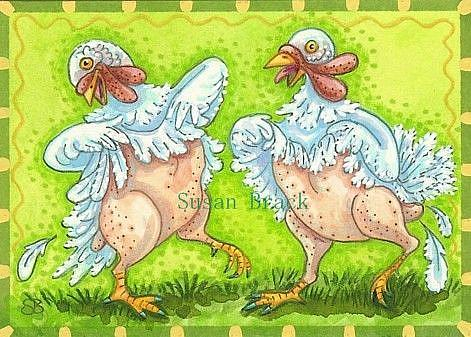 Art: TURKEYS GONE WILD by Artist Susan Brack