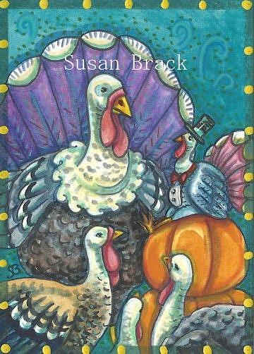 Art: STUFFED TURKEY by Artist Susan Brack