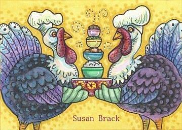 Art: TURKEY AND ALL THE FIXINS by Artist Susan Brack