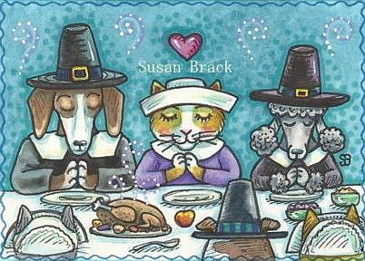 Art: THANKFUL FOR FRIENDS by Artist Susan Brack