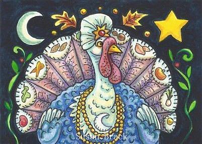 Art: PREDICTING A HAPPY THANKSGIVING by Artist Susan Brack