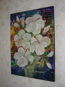 Detail Image for art WHITE HIBISCUS  #1378E -sold