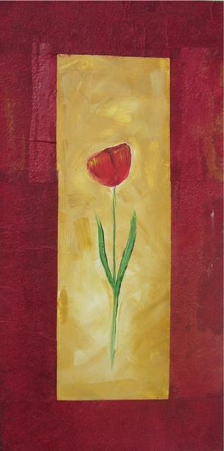 Art: COLLAGED TULIP by Artist Eridanus Sellen