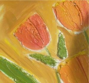 Detail Image for art FRESCO TEXTURED TULIPS