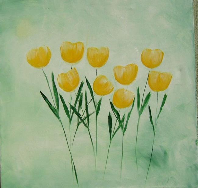 Art: O- yellow TULIPS by Artist Eridanus Sellen