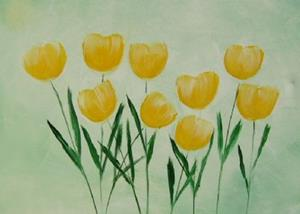 Detail Image for art O- yellow TULIPS