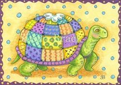 Art: TURTLE TEA COZY by Artist Susan Brack