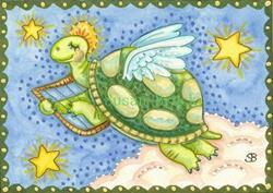 Art: ALL GOOD TURTLES GO TO HEAVEN by Artist Susan Brack