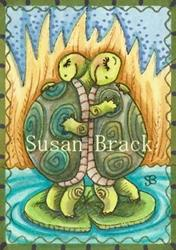 Art: LOVE ON A LILY PAD by Artist Susan Brack