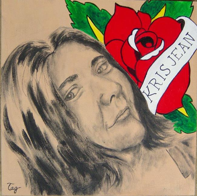 Art: Portrait of Kris Jean by Artist Tracey Allyn Greene