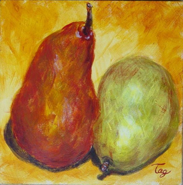 Art: 2 Pears II by Artist Tracey Allyn Greene