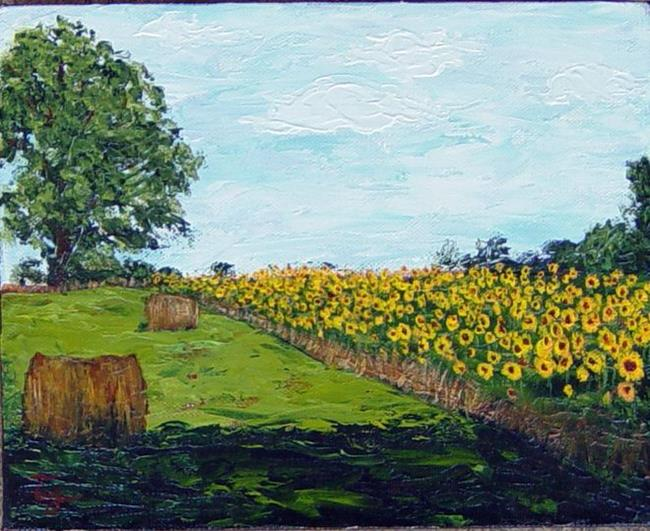 Art: Sunflowers on Redstone Arsenal by Artist Tracey Allyn Greene