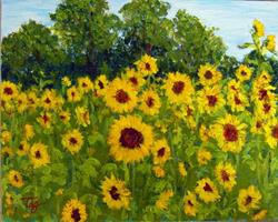 Art: Sunflowers on Redstone Arsenal II by Artist Tracey Allyn Greene