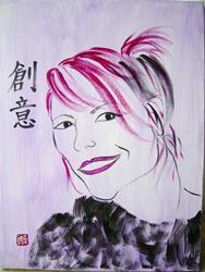 Art: Creative Imagination - Veronique Perron by Artist Tracey Allyn Greene
