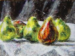 Art: Pear  Group II by Artist Tracey Allyn Greene