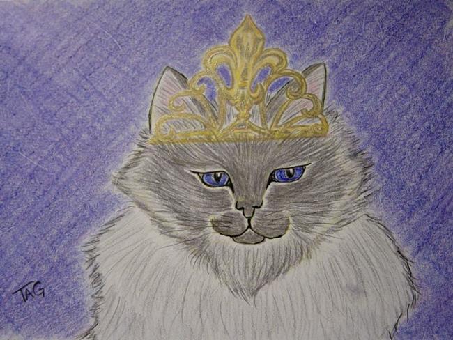 Art: Queen Elizabeth by Artist Tracey Allyn Greene