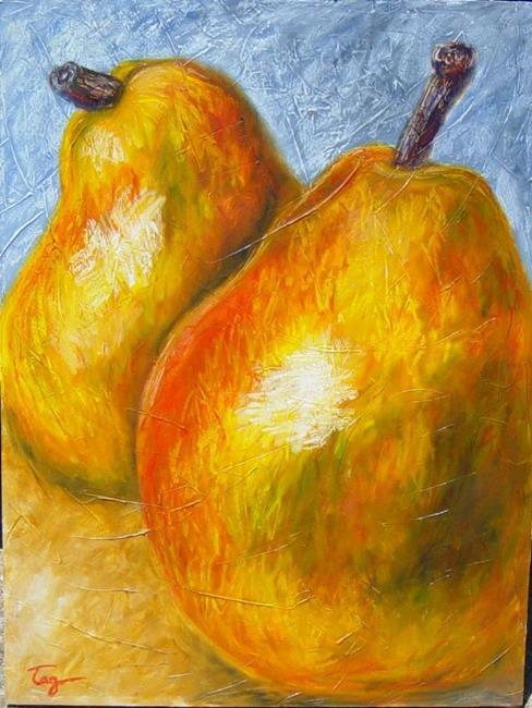Art: Giant Pear Pair by Artist Tracey Allyn Greene