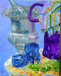 Art: Blue Glasses by Artist Tracey Allyn Greene