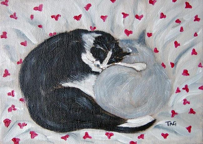 Art: Cat Buddies - Valentine by Artist Tracey Allyn Greene
