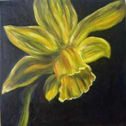 Art: Tina's Daffodil 2 - A Rip by Artist Tracey Allyn Greene