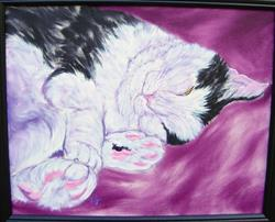 Art: Nikki's Nap by Artist Tracey Allyn Greene