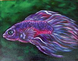 Art: Betta Fish by Artist Tracey Allyn Greene