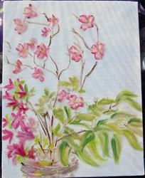 Art: Dogwood Flowers in Vase by Artist Tracey Allyn Greene