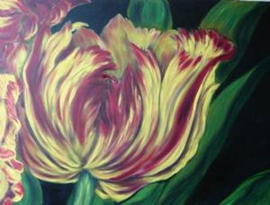 Detail Image for art Tulip in Yellow and Crimson