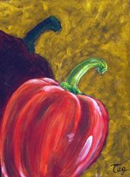 Art: Red Pepper Pop by Artist Tracey Allyn Greene