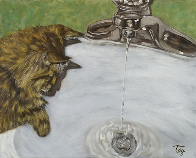 Art: Watching Water by Artist Tracey Allyn Greene