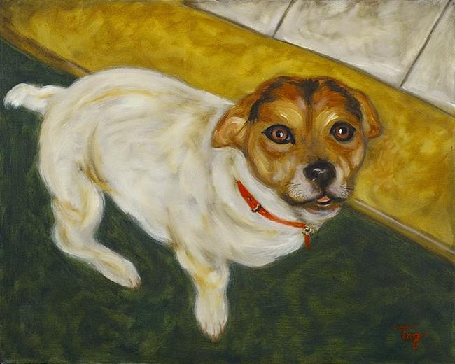 Art: Dogs of Paris #1 - Shop Dog (available) by Artist Tracey Allyn Greene