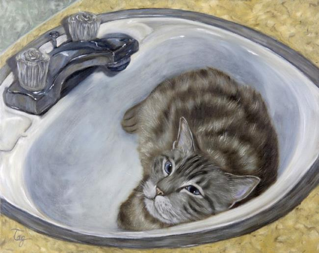 Art: Bertie's Boudoir by Artist Tracey Allyn Greene