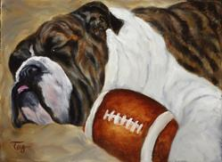 Art: I Love Football by Artist Tracey Allyn Greene