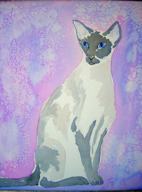 Art: Blue Point Siamese by Artist Tracey Allyn Greene
