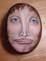 Art: Like a Rock...Noelle Hunt by Artist Tracey Allyn Greene
