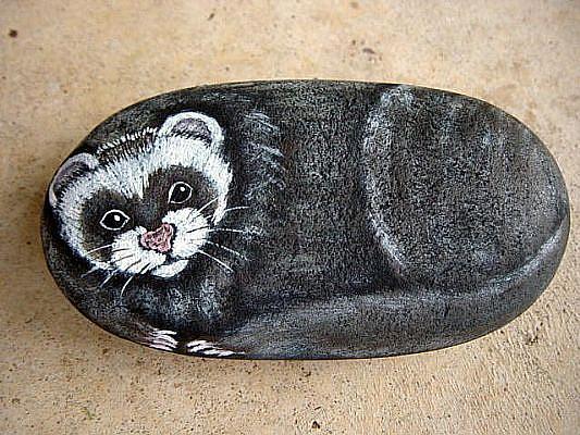 Art: Nigel the ferret by Artist Tracey Allyn Greene