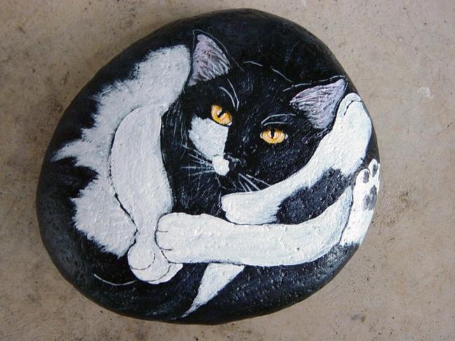 Art: Cat Yoga by Artist Tracey Allyn Greene