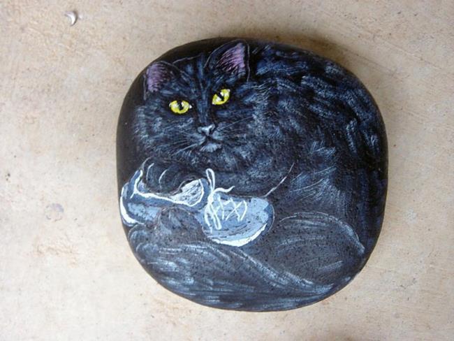 Art: Olga's Elliot - Sneaker Cat by Artist Tracey Allyn Greene