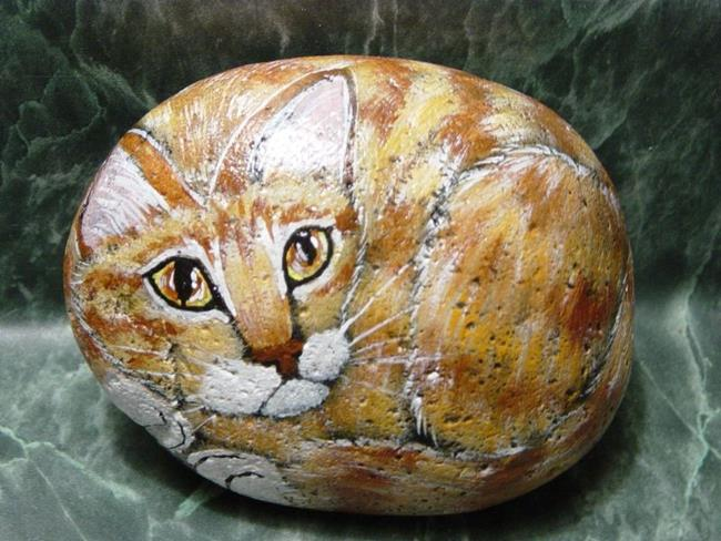 Art: Orange Tabby and White by Artist Tracey Allyn Greene