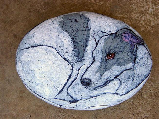 Art: Greyhound by Artist Tracey Allyn Greene