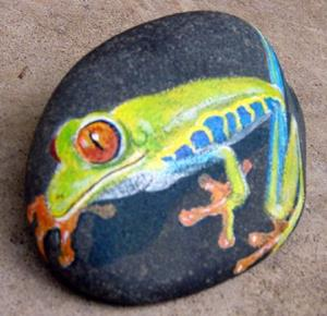 Detail Image for art Red-eyed Tree Frog - Rip of Amanda Makepeace