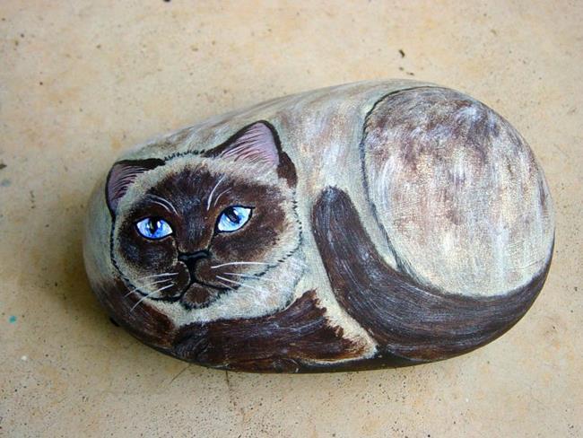 Art: Siamese Cat by Artist Tracey Allyn Greene