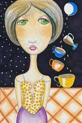 Art: Four of Cups - The Mentalist by Artist Sherry Key