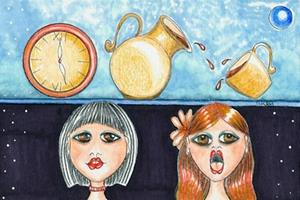 Detail Image for art Three of Cups - The Party Goer