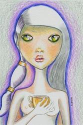 Art: Tarot Art - Ace of Cups by Artist Sherry Key