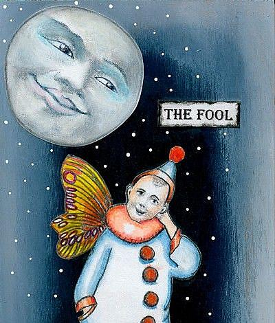 Art: Tarot Art - The Foolish Fairy-Sold by Artist Sherry Key