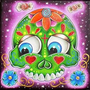 Detail Image for art Sugar Skull With Candy